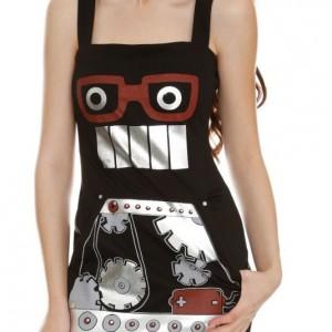 Black Knit Robot Dress