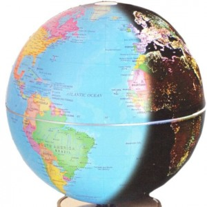 "City Lights 6"" Geographical Globe"