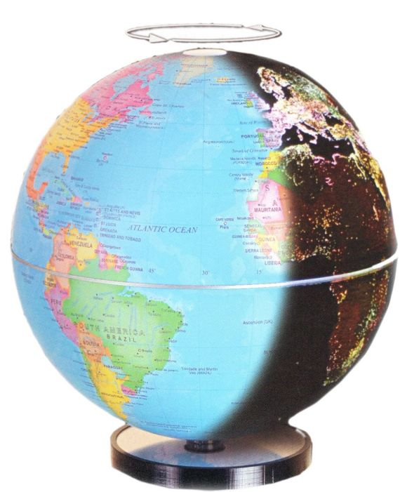 City Lights 6″ Geographical Globe
