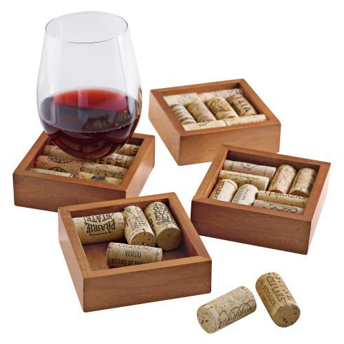 Wine Cork Coasters Kit -Set of 4