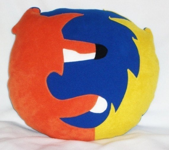 Firefox Icon Pillow