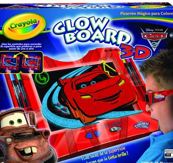 Crayola Color Explosion Cars 2 Glow Board 3D
