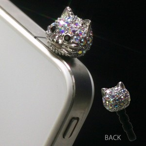 Plug Apli Swarovski Cat Earphone Jack Accessory