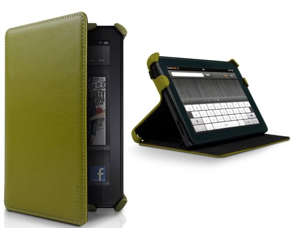 Green Kindle Fire Leather Case Cover