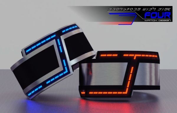 A Futuristic LED Watch Design