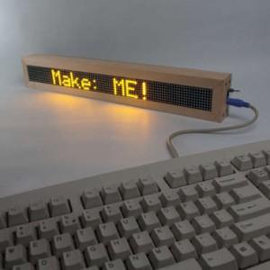 LED digital message board