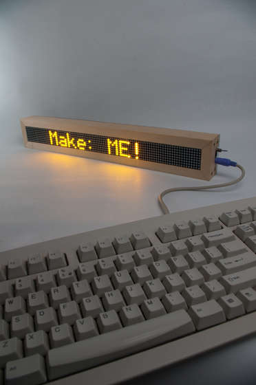 LED digital message board