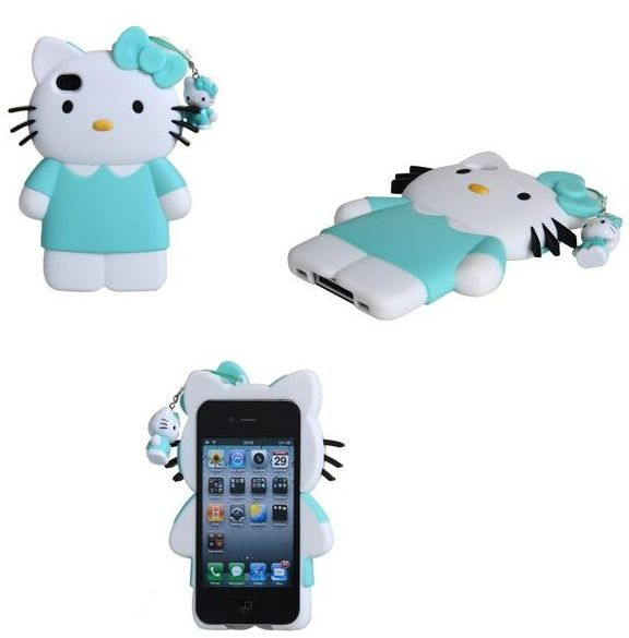 Kitty Design Matte Plastic Case for iPhone 4S