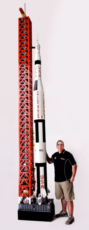 19 Foot-Tall LEGO Saturn V Rocket
