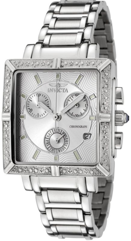 Invicta Women's Square Angel Diamond Watch