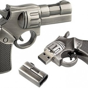 16 GB Metal Gun shape USB Flash drive