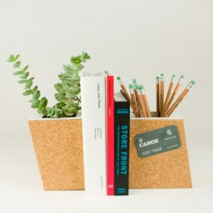Cork Planter Bookend Set