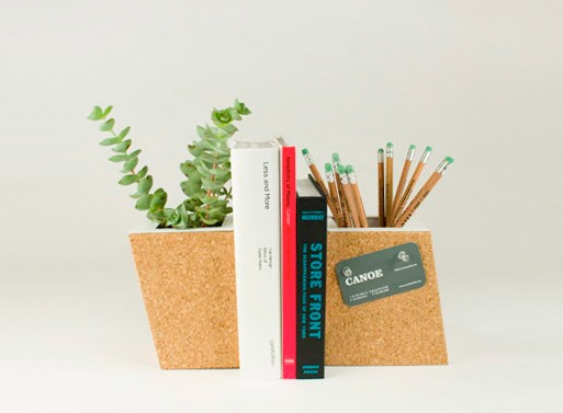 Cork Planter Bookend Set