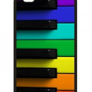 Rainbow colored piano Custom iPhone Case (Fit for 4S and 4)