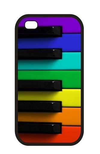 Rainbow colored pianoiPhone Case  for 4S