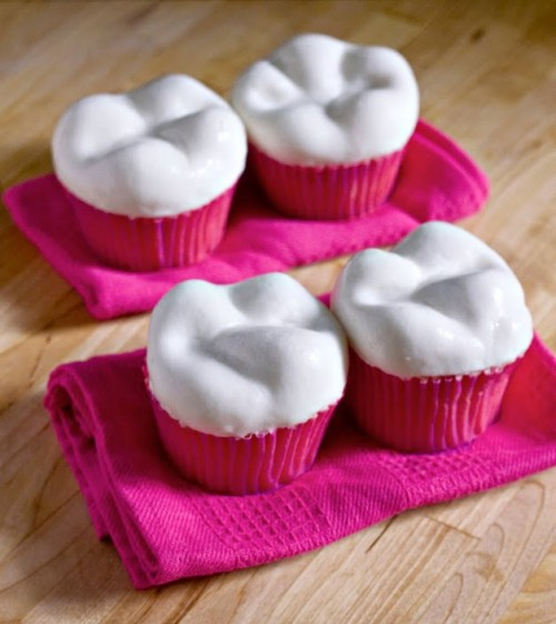 Tooth-Shaped Cupcakes
