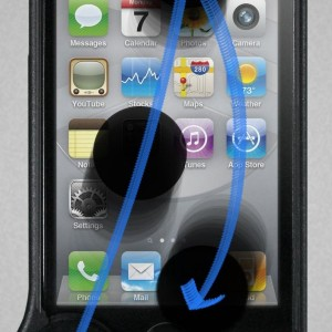 WipeCoin Case (Black) - Protect and Clean Your iPhone 4S