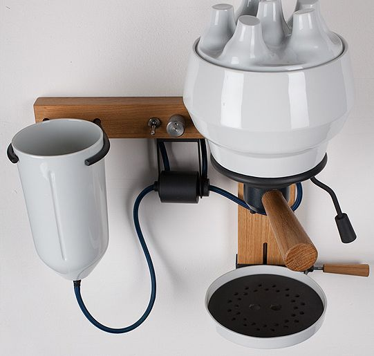 Arvid Hausser's espresso machine porcelain
