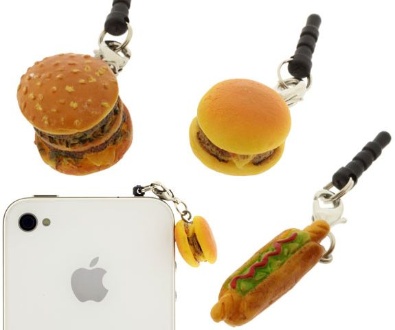 Charm Apli Hamburger Earphone Jack Accessory