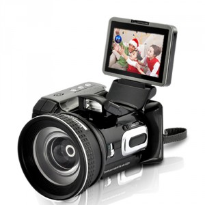 Digital Video Camcorder with Optical Telescope Zoom and Wide-angle Lens
