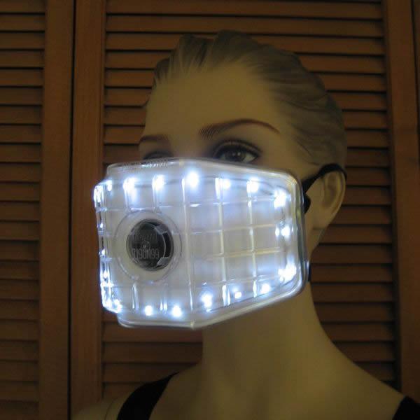 lighted ventilation mask