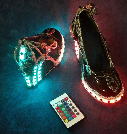 Vintage Steampunk with Remote Control LED lights