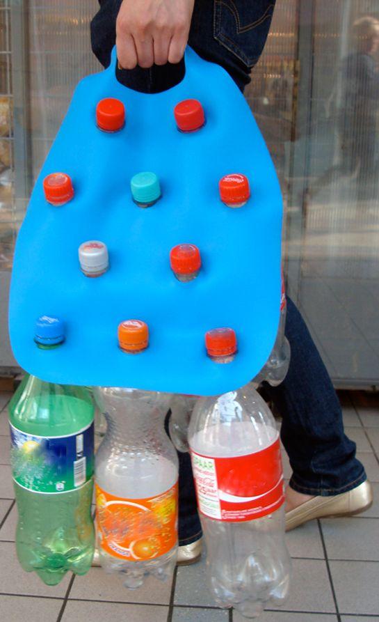 Plastic bottle carrier
