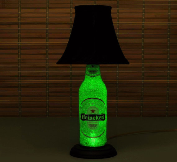 Heineken Beer Bottle Lamp With Shade