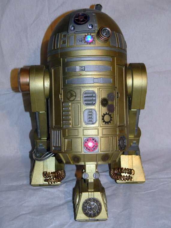Steampunk Modded Interactive Star Wars R2D2 Toy