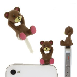 Cyappy Control Bear Earphone Jack Accessory