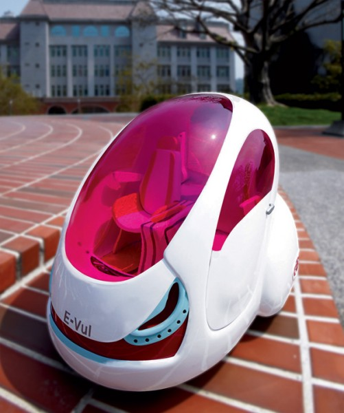 E-Vul is an electric-powered inter-city concept car,