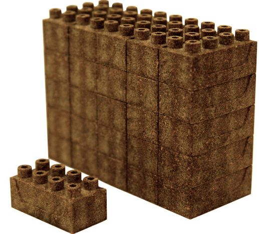 Earth block LEGOs