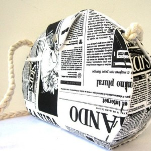 Newspaper Bag - Printed Fabric
