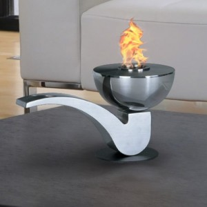 Pipe Liquid Fuel Fireplace