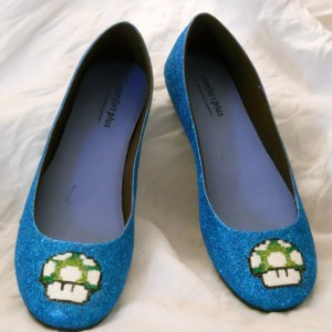 Mario Mushroom Glitter Shoes