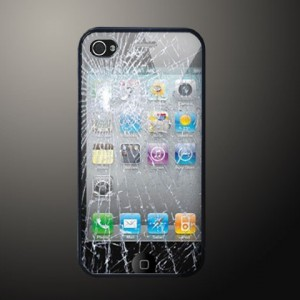 Trick Broken Glass Apple iPhone 4, iPhone 4s Hard Case