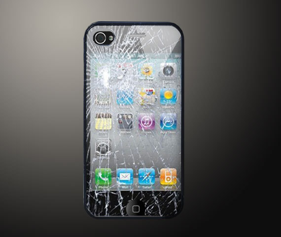 Trick Broken Glass iPhone 4S hard case
