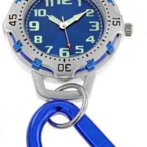 Blue Dial Carabiner Clip Watch