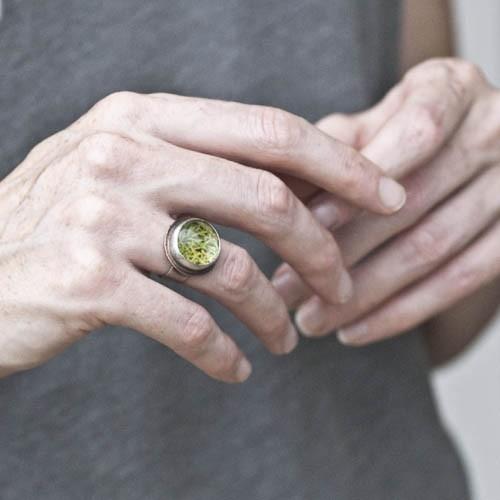 Moss Terrarium Ring with Copper