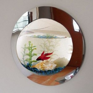 Deluxe Mirrored Wall Mounted Fish Tank