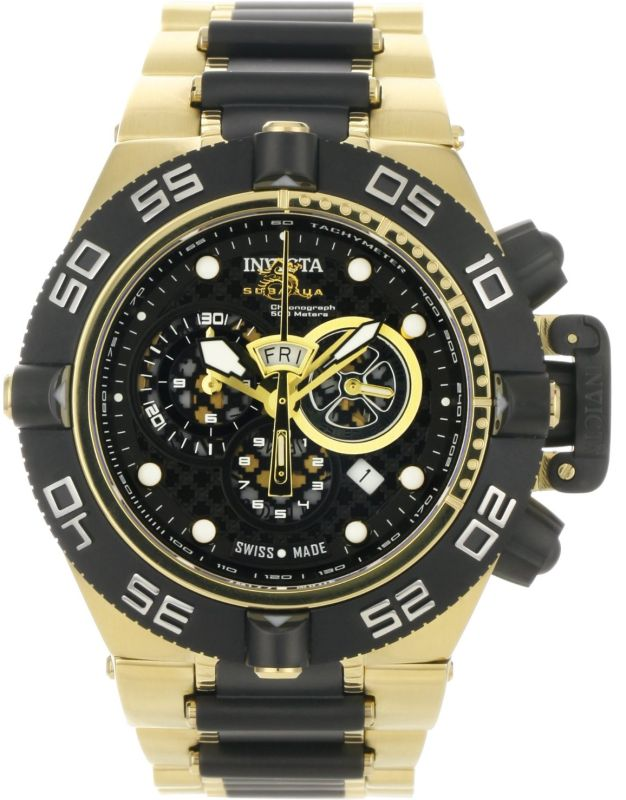 Invicta Men's 18k Gold-Plated Stainless Steel Watch