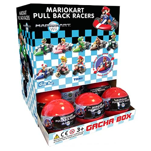 Nintendo Mario Kart Wii Pull Back Racers Display Box