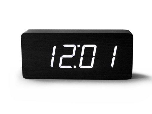 Black Digital Alarm Clock with White LED Light