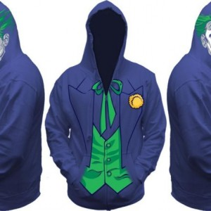 Batman Joker All View Men's Zip Hooded Sweatshirt