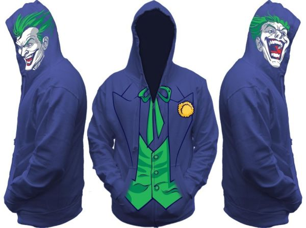 Batman Joker All View Men's Zip Hooded Sweatshirt