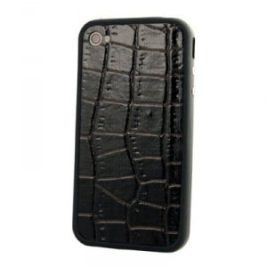 iPhone 4 and 4S Luxury PU Leather Skin Back Glass Protector