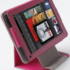 Poetic(TM) 360 Degree View Flip Stand Case for Amazon Kindle Fire Hot Pink
