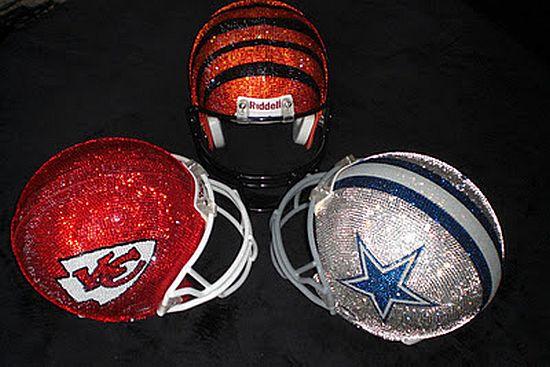Swarovski crystal helmets