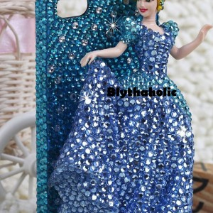 Cinderella Princess 3D Dress Swarovski IPhone hard Case