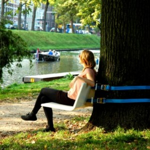 Portable Tree Bench Turns